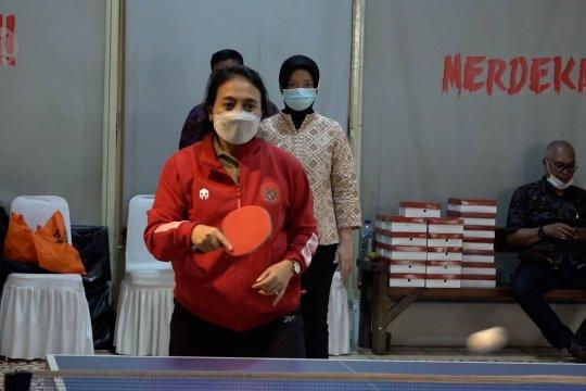 Tenis meja jadi hobi dan media silaturahmi Menteri PPPA