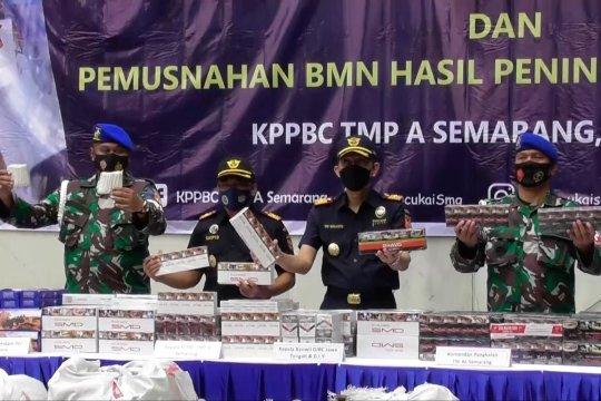 Bea Cukai Semarang gagalkan peredaran 608.000 batang rokok ilegal