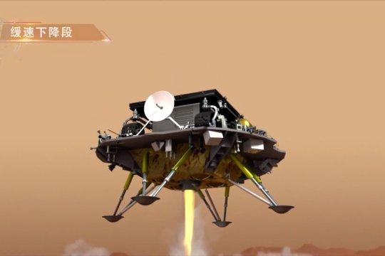 Wahana antariksa China sukses mendarat di Mars