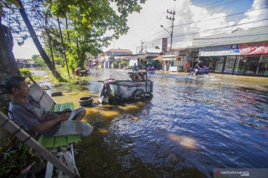 Banjir air pasang di Kota Banjarmasin