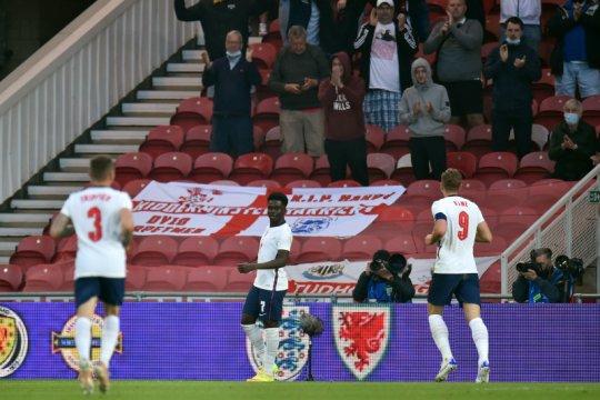 Bukayo Saka buka rekening gol saat Inggris gebuk Austria 1-0