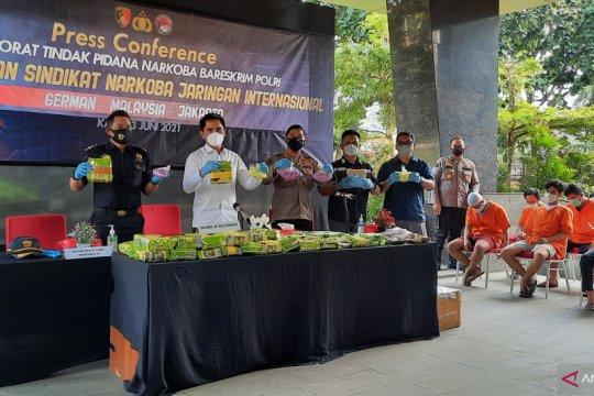 Polri menggagalkan penyelundupan 45 kg sabu-sabu asal Malaysia