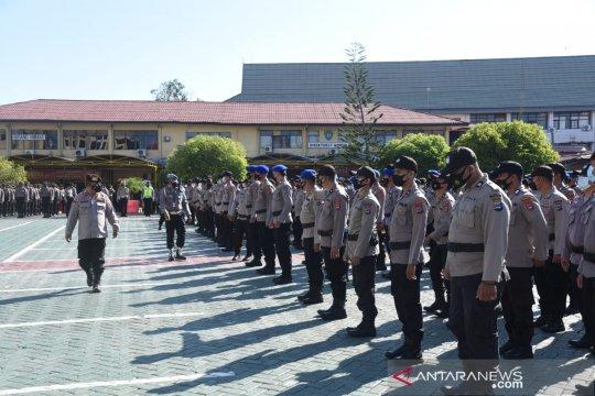 Polda Kalsel cek kesiapan pasukan pengamanan PSU Pilgub 9 Juni