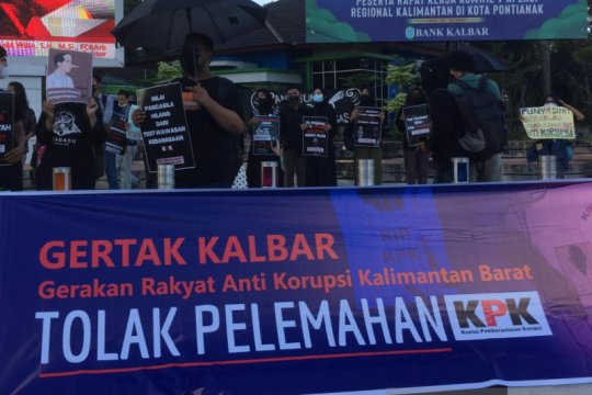 Gerakan Rakyat Antikorupsi Kalbar tolak upaya pelemahan KPK