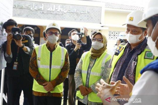 Menko Airlangga-Ade Yasin tinjau proyek dua bendungan di Bogor