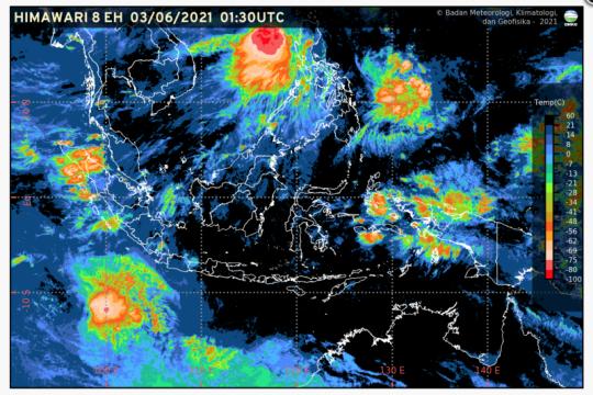 BMKG prakirakan potensi hujan di wilayah Jawa, Sumatera dan Sulawesi