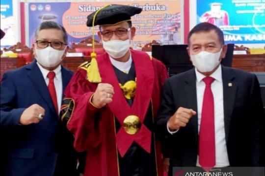 Hasto: Orasi ilmiah Rektor Unhan perkuat intelektual poros maritim