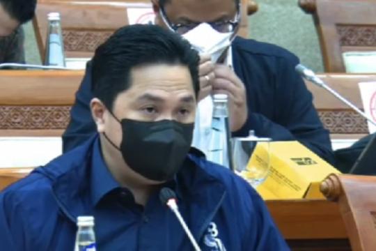 Erick Thohir ajukan tambahan anggaran KemenBUMN 2022 Rp33,34 miliar