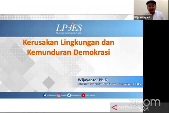 LP3ES: Penurunan kualitas demokrasi terkait dengan kerusakan alam