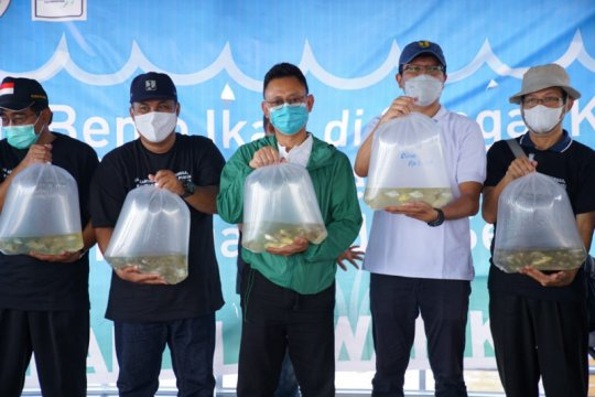 Wali Kota Pontianak tebar bibit ikan di Sungai Kapuas