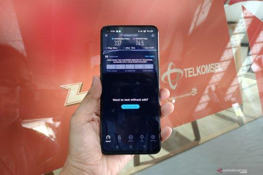 Jaringan 5G Telkomsel tembus kecepatan di atas 500MBps