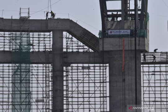 Progres proyek Jakarta International Stadium