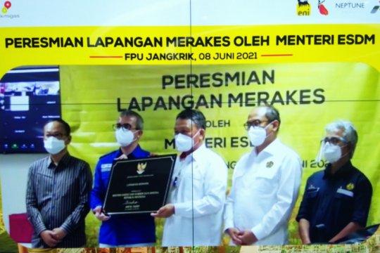 Pemerintah resmikan proyek gas Merakes di Kalimantan Timur