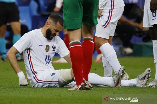 Prancis gasak Bulgaria tapi dibayangi ancaman cedera Karim Benzema
