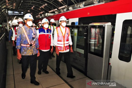 Pembangunan LRT Jabodebek tahap 1 capai 84,6 persen