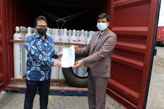 Indonesia berikan hibah 1.400 tabung oksigen kepada India