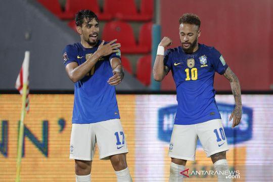 Aksi Neymar dan Paqueta saat bawa Brasil tundukkan Paraguay