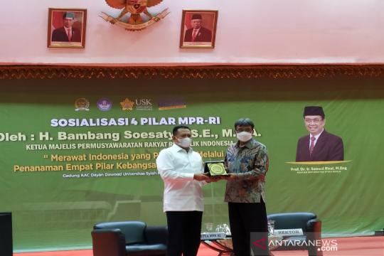 Ketua MPR apresiasi USK atas pembinaan mahasiswa asal Papua