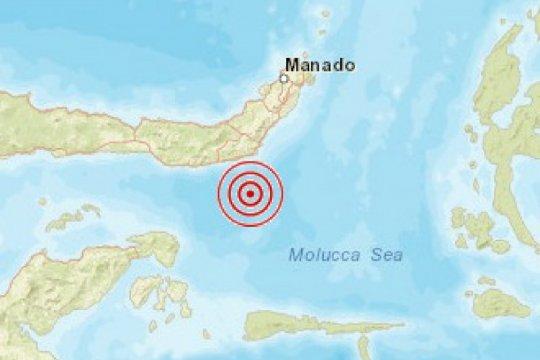 Gempa tektonik magnitudo 5,7 guncang tenggara Bolaang Uki Sulut