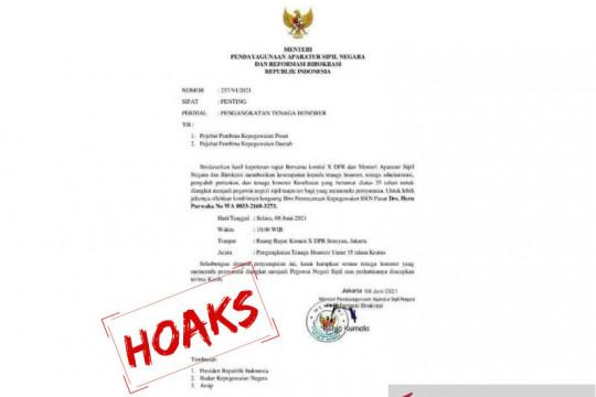 Kemenpan RB: Hati-hati surat palsu tentang pengangkatan honorer