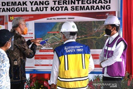 Presiden Jokowi tinjau proyek pembangunan Tol Semarang-Demak