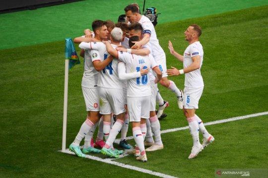 Timnas Ceko latihan menembak jelang laga 16 besar Euro 2020