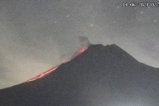 Gunung Merapi meluncurkan awan panas guguran sejauh 1,6 km