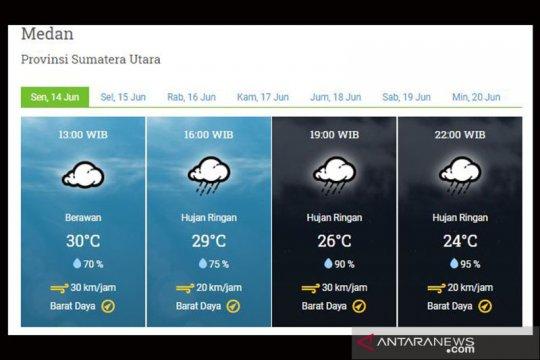 BMKG: Waspada potensi hujan intensitas lebat di pegunungan Sumut