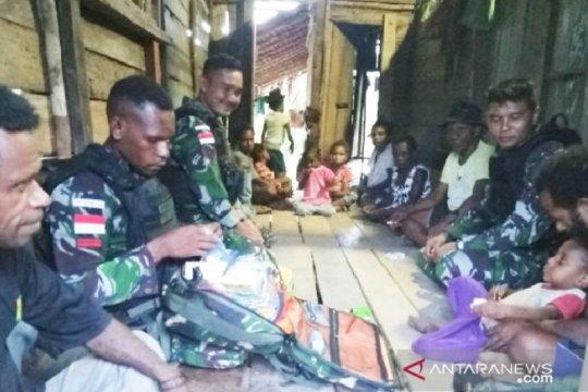 Satgas TNI beri layanan kesehatan gratis warga perbatasan RI-PNG