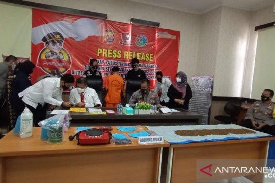 """Polda Banten ungkap """"home industri"""" tembakau gorila"""