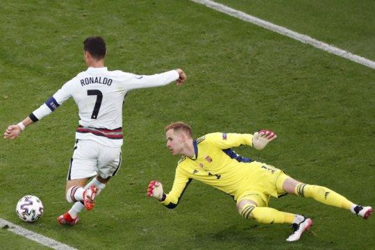 Ronaldo lewati rekor Platini sebagai pencetak gol terbanyak Euro