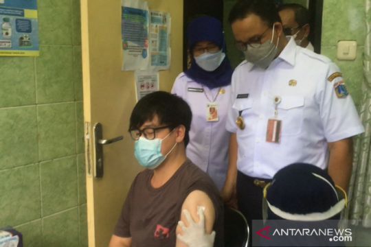 1.133 warga Sunter Agung ikut vaksinasi COVID-19 pada Rabu