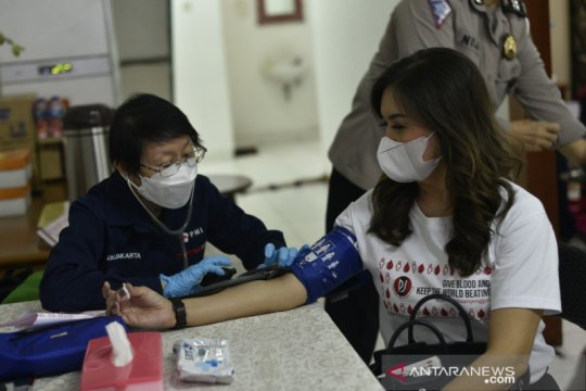 Polda Metro, Perempuan Jenggala, PMI peringati Hari Donor Darah Dunia