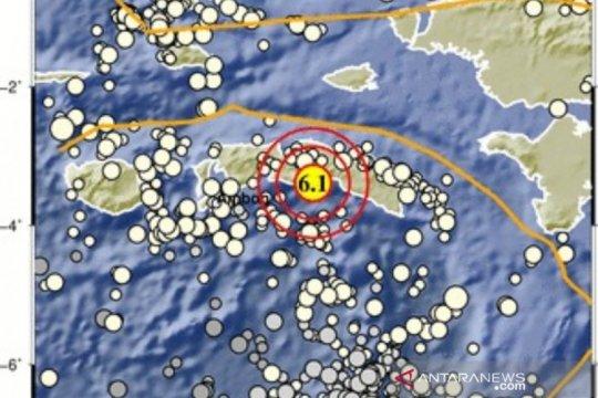 BMKG: Muka air laut naik 0,5 meter akibat gempa di Pulau Seram