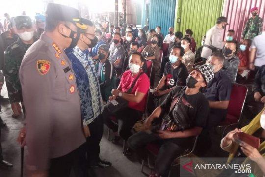 Tiga pilar Jakpus gelar vaksinasi massal di Blok F Tanah Abang