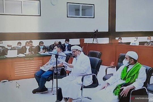 Rizieq Shihab jalani sidang putusan kasus RS UMMI Bogor Kamis ini