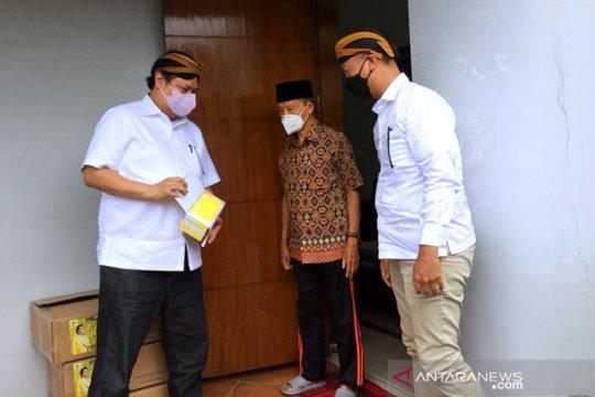 Airlangga Hartarto dan Agus Gumiwang temui Syafii Maarif di Yogyakarta