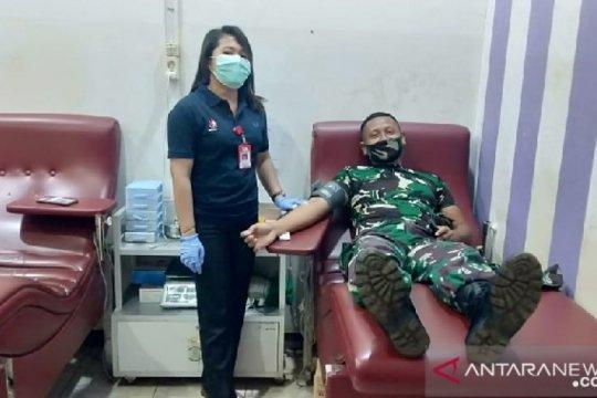 Satgas TNI gelar donor darah di perbatasan