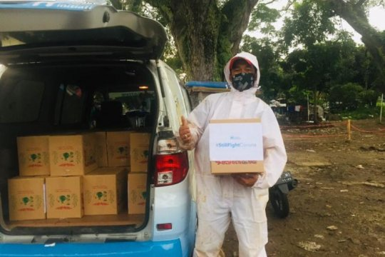 COVID-19 tinggi, Human Initiative distribusikan makanan-multivitamin
