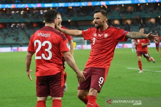 Swiss bekap Turki 3-1, tapi hanya finis peringkat ketiga Grup A