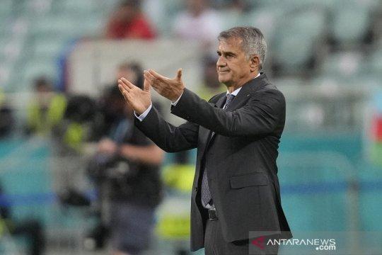 Pelatih Turki tidak akan mundur walau gagal total di Euro 2020