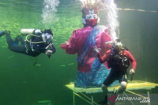 Sambut HUT DKI, Ancol bersiap gelar atraksi ondel-ondel di bawah air