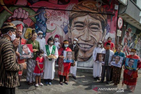 Ucapan selamat ulang tahun bagi Presiden Jokowi dari warga Solo