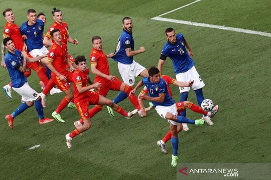 Euro 2020: Kalahkan Wales, Italia jadi juara grup A dan lolos ke babak 16 besar