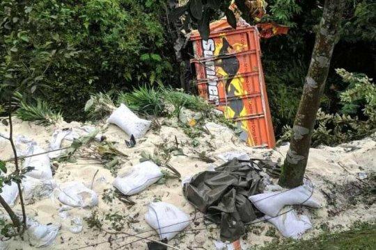 Kecelakaan di turunan Kertek Wonosobo renggut tiga korban tewas