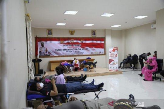 Sambut HUT Bhayangkara, Polresta Tangerang gelar donor darah massal