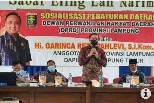 Anggota DPRD Lampung sosialisasi Perda Perlindungan Pemberdayaan UMKM