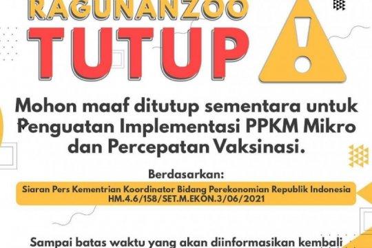 Taman Margasatwa Ragunan tutup sementara