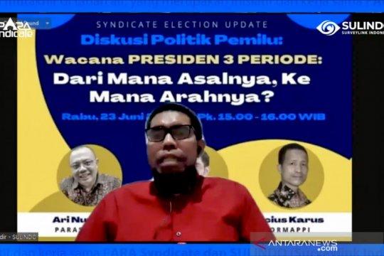 Pengamat: Wacana presiden tiga periode didorong kepentingan pragmatis
