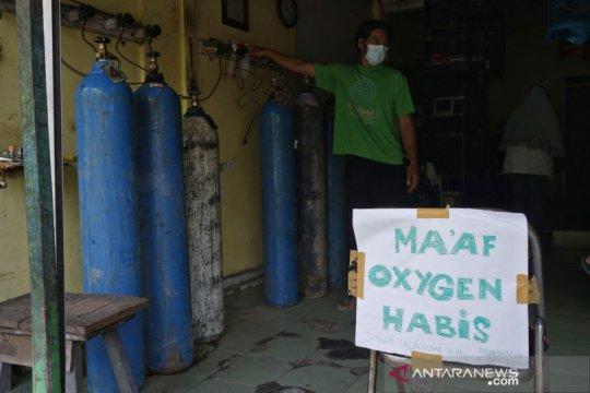 Kelangkaan oksigen isi ulang di Yogyakarta